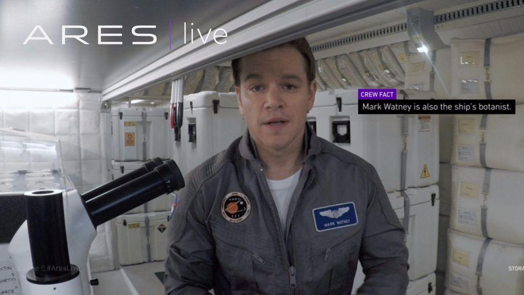 """Matt Damon conversa com o espectador e traz estética de vlog para """"Perdido em Marte"""""""
