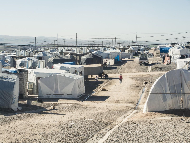 Barracas do campo de refugiados visitado no Curdistão Iraquiano. (Foto: Marco Gomes)